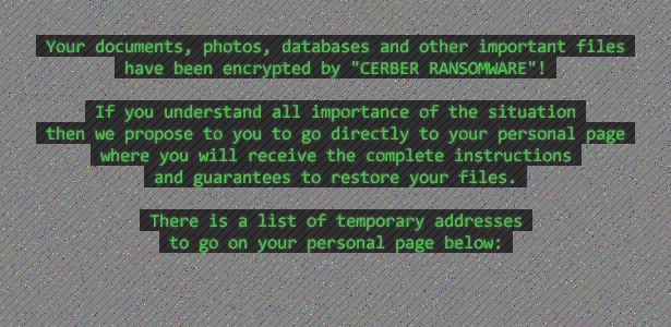 # Decrypt My Files # virus – Cerber ransomware removal