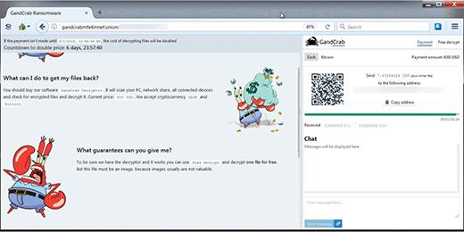 GandCrab 5.2 decryptor page
