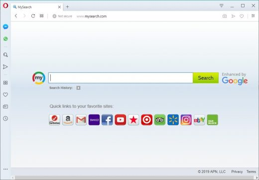 Opera browser assaulted by homepage hijacker
