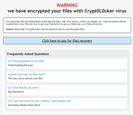 HOW_TO_RESTORE_FILES.html ransom note by the new Crypt0L0cker