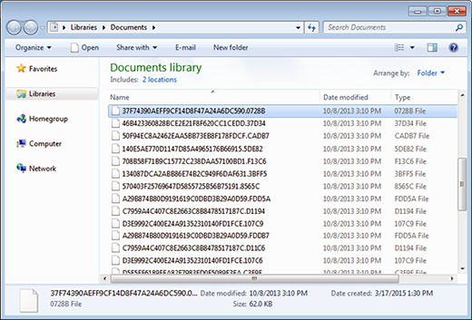 Files jumbled by the new edition of CryptXXX