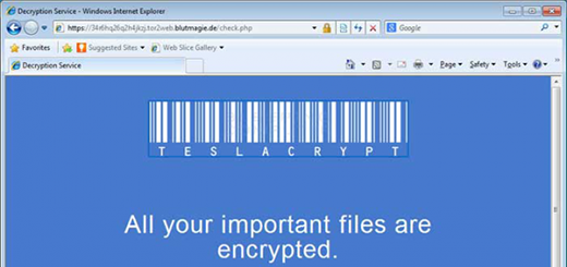 TeslaCrypt 3.0 Decryption Service site linked-to in the ransom instructions
